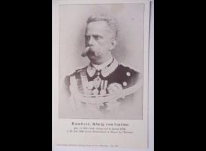 Italien, König Humbert von Italien, Trauerkarte 1900