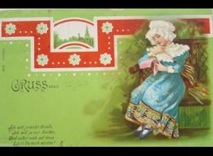 """""""Gruß aus, Kinder, Brief"""" 1899 ♥"""