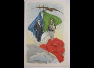 Italien, König Victor Emanuel, Fahnen, Frankreich, 1900 ♥