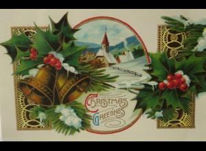 Weihnachten, Glocke, Kirche, Disteln, 1911 ♥ (17864)
