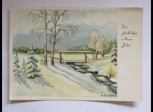 """""""Neujahr, Winterlandschaft, Bach"""" 1964, H. Ullenberg, Stille Fluren♥"""