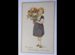 Geburtstag, Kinder, Mode, Blumen, 1930, Marie Flatscher ♥ (27063)