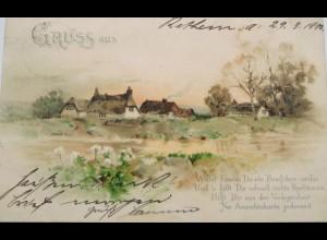 """""""Landschaft, Spruch"""" 1900 ♥"""