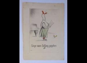"""""""Personifiziert, Gans, Singen, Vogel, Singe wem Gesang gegeben"""" 1939 ♥"""