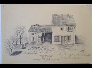 Lothringen Parfondrupt, Ecke Zimmermannstrasse Eyserstrasse 1914