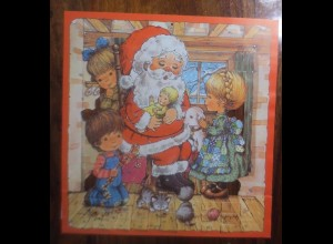 Adventskalender, Weihnachtsmann, Kinder, Musizieren ♥ 1960-1970..