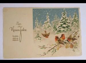 """""""Neujahr, Vogel, Baum, Winterlandschaft"""" 1927 ♥"""