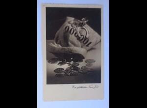 Neujahr, Münzen, Hufeisen, 1936 ♥ (47817)