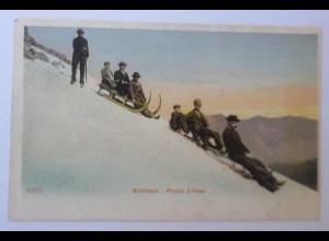 Wintersport, Schlitten, Plaisir d, Hiver, Rodeln, 1900 ♥